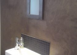 Bronze polished plaster bathroom example