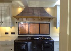 Copper plaster kitchen