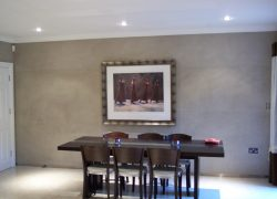 Polished plaster example dining room