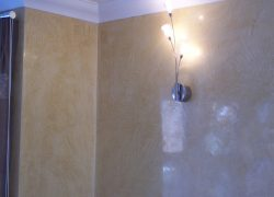 Polished plaster wall example