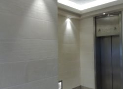 Reception stone effect polished plaster
