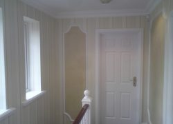 Wallpaper and polished plaster example